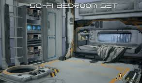my sims 4 blog ts2 sci fi bedroom set conversion by mimoto ts4