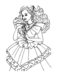 princess barbie coloring pages birthday party