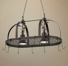 oil rubbed bronze pot rack with lights pot racks hanging lighted chandelier stainless steel for rack with