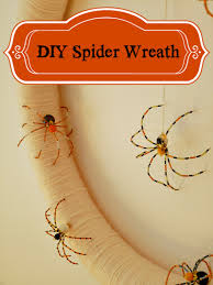 dans le lakehouse diy halloween spider wreath holiday fun