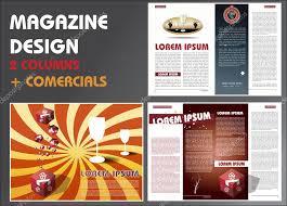 magazine layout design template u2014 stock vector miobra 6750468