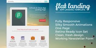 flat landing responsive product landing template 25 prodigious