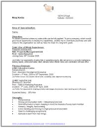 Job Experience Resume by Sample Template Of A Graduate With 5 Years Of Experience