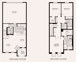 Townhome Floor Plan by Townhomes At Paseo Real Estate Fort Myers Florida Fla Fl