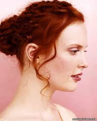 marriage bridal hairstyle wedding hairstyles martha stewart weddings