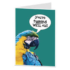 funny rude birthday card old age joke 40th 50th 60th him her men