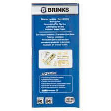brinks high security keyed entry wave lever door lock polished