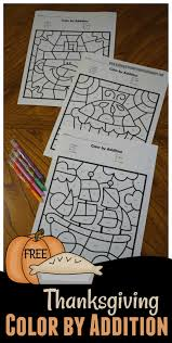 kindergarten worksheets and free thanksgiving color by addition