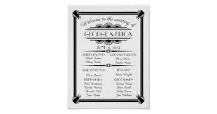 deco wedding program deco wedding program wedding party silver poster zazzle