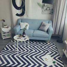 tapis de sol chambre mode moderne géométrique vague zigzag salon chambre décoratif tapis