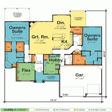 baby nursery house plans with two master suites one story home