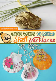 shell necklace making images 34 cool ways to make shell necklaces guide patterns jpg