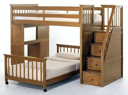 white bunk bed with desk and stairs kids house stair loft