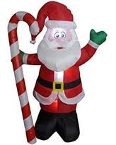 incredible deal on winter lane 6 u0027 inflatable candy cane cluster