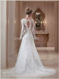 Long Sleeve Lace Wedding Dress Open Back Turmec Open Back Long Sleeve Lace Wedding Dress