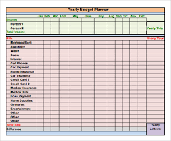 8 best images of annual budget plan yearly budget planner