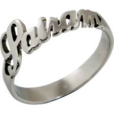 silver name rings sterling silver custom name ring high end personalized jewelry