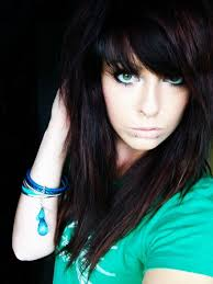 punk short emo hairstyles for girls popular long hairstyle idea