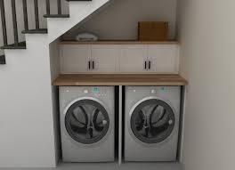 Laundry Room Storage Between Washer And Dryer by Brilliant Ideas For Utilizing The Space Under The Staircase