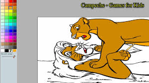 lion king online coloring pages simba and nala 145