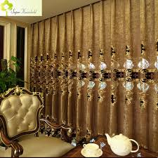 Noble Curtains 1 Pc European Noble Luxury Room Curtains For Living Room