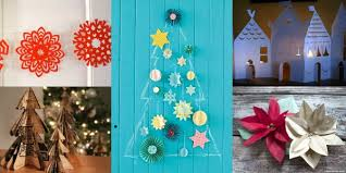 paper christmas decorations to make at home home decor
