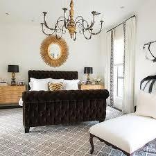 Velvet Sleigh Bed French Sleigh Bed Design Ideas