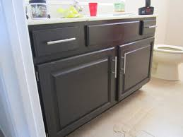 how to paint bathroom cabinets white small solid black wood painting bathroom cabinets with stainless