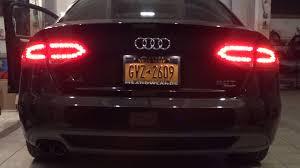 audi a4 tail lights audi a4 b8 usa rear lights youtube
