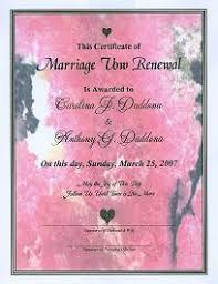 vow renewal program templates marbleized marriage vow renewal certificate