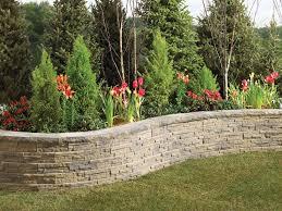 ledgewall garden retaining wall blocks from anchor wall