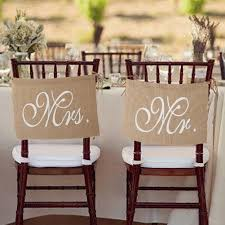 mr and mrs wedding signs 2017 mr mrs burlap chair banner set chair sign