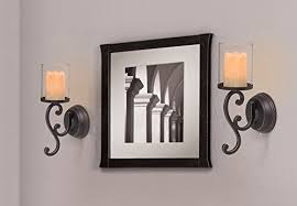 Flameless Candle Wall Sconce Innovative Flameless Candle Wall Sconce Set 2 Candle Impressions