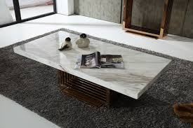 Marble Living Room Table Modrest Kingsley Modern Marble Rosegold Coffee Table Marbles