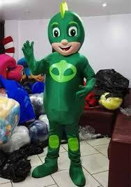 pj mask green gekko mascot costume quality adults birthday