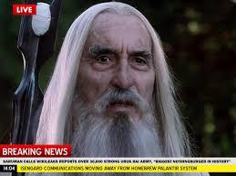 Breaking News Meme - breaking news saruman says wikileaks a nothingburger orcposting