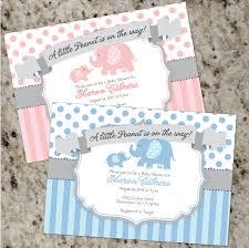 peanut baby shower peanut baby elephant themed shower invitations boy or