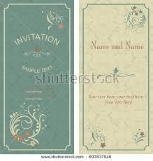 vintage invitation card victorian pattern stock vector 257041834