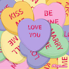 heart candy sayings knarserpapin valentines day hearts candy