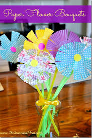Flowers For Crafts - spring crafts for kids paper tulips flower bouquet my style