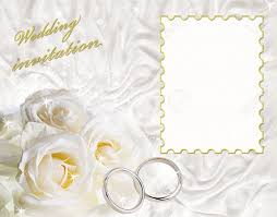 a card for a wedding invitation with a frame for sample text