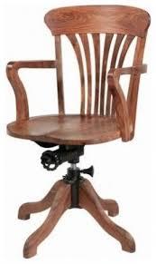 wooden swivel desk chairs foter