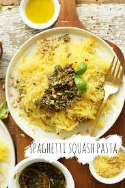 cuisine pasta pesto spaghetti squash pasta minimalist baker recipes