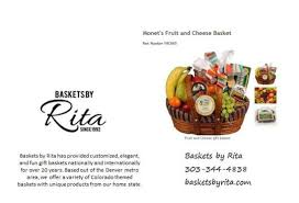 Gift Baskets Denver Colorado Gift Ideas Baskets By Rita Has A Wide Variety Of Gift