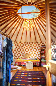 workspace tour a boho backyard dream office in a yurt apartment