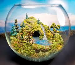 bicycle mini zen garden with pond terrarium by megatone230