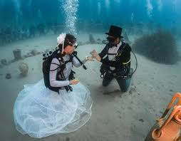 underwater wedding weddings in pictures pictures pics express co uk