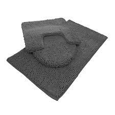 Grey Bathroom Rug by Chenille Bath Mat Rug Set 100 Microfiber Noodle Bathroom Mat