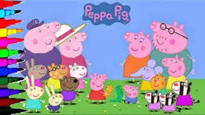 Peppa Pig 2017 Book Peppa Pig Compilation Coloring Book Pages Peppa Pig Family And