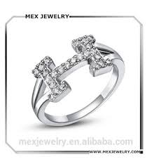 crystal pave rings images Initial letter h white 18k platinum plated pave cubic zirconia jpg